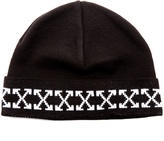 Off-White Arrows-intarsia beanie hat