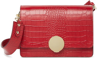 Maison Heritage Sac Main Convertible Croc Embossed Clutch