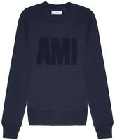 Ami Logo Front Crew Neck Sweatshirt