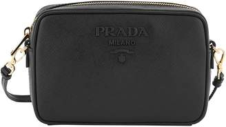 Prada Saffiano Monochrome leather crossbody bag