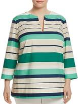Lafayette 148 New York Plus Moria Stripe Tunic