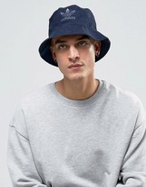 Adidas Originals Suedette Bucket Hat In Blue Bk7009