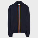 Paul Smith Men's Navy 'Artist Stripe' Merino Wool Zip-Through Top