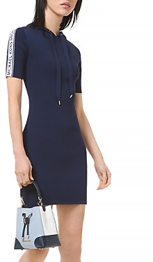 MICHAEL Michael Kors Logo Tape Hoodie Dress