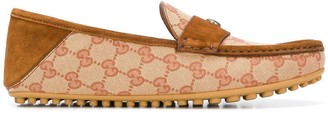 Gucci Logo Driving Loafers