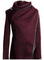 Cibeat Women's Warm Wool Slim Long Trench Parka Peacoat Outwear Overcoat Coat Jacket Color: Size (Women's):S