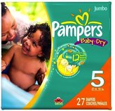 Pampers Baby Dry Diapers Jumbo Pack Size 5