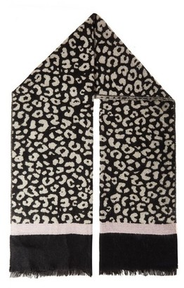 Dorothy Perkins Womens Quiz Multi Colour Leopard Print Knitted Scarf
