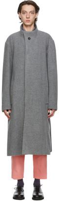 Issey Miyake Grey Wool Braver Coat