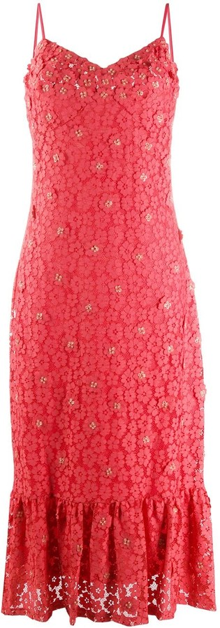MICHAEL Michael Kors Floral Lace Midi Dress
