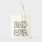 Paul Smith Men's 'Crossed Bones' Print Red Ear Tote Bag