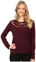 Vince Camuto Long Sleeve Lace Yoke Sweater