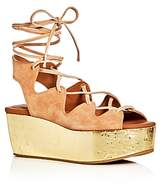 See by Chloe Lace Up Metallic Platform Sandals