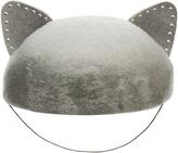 Eugenia Kim Caterina Grey Marble Wool-Felt Cat Ears Beret Hat