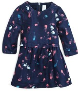 Tartine et Chocolat Infant Girls' Feather & Swan Print Twill Dress - Sizes 6-18 Months