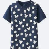 Uniqlo Kid's Mickey Blue Short-sleeve Graphic T-Shirt