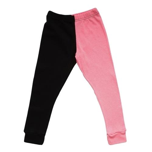 Nununu - Half & Half Pant - Pink / Black