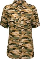Equipment Camouflage-print washed-silk shirt