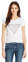 GUESS Women's Short Sleeve Hand Drawn Tri R3 T-Shirt