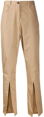 Martine Rose High-Rise Front Slit Trousers