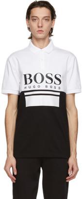 HUGO BOSS White and Black Pavel Polo