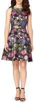 Tahari Arthur S. Levine Petite Multi-Color Floral Jacquard Fit-and-Flare Dress