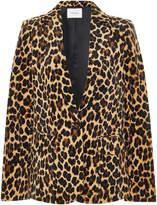 Frame Leopard-Print Velvet Blazer