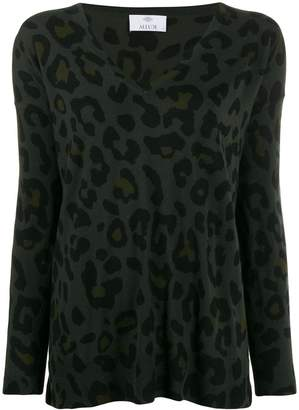 Allude leopard print jumper