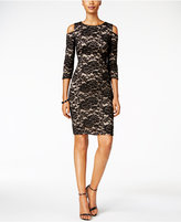 Jessica Howard Cold-Shoulder Lace Sheath Dress