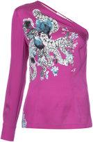 Yigal Azrouel serpent single sleeve blouse