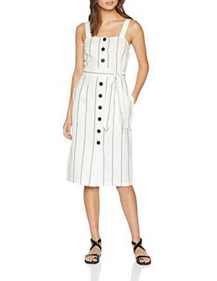 Great Plains Women's Santa Fe Stripe Dress, Off-White (Milk/Black ), Size