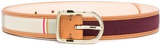Paul Smith Striped Skinny Belt