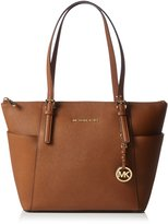 MICHAEL Michael Kors Michael Kors Women's Jet Set East West Top-Zip Leather Shoulder Tote