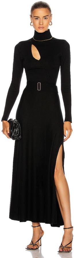 Nicholas Cross Over Cut Out Dress in Black | FWRD