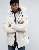 Bellfield Faux Fur Trim Parka