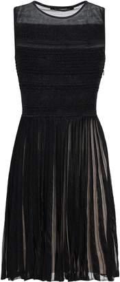 Valenti Antonino Pleated Knitted Mini Dress