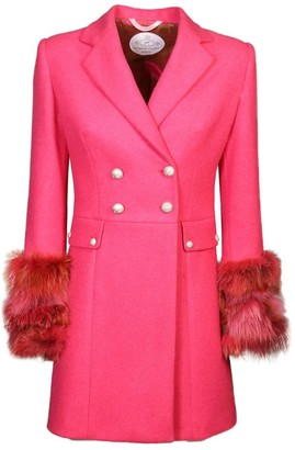 The Extreme Collection Pink Faux Fur Long Coat Enfant Terrible