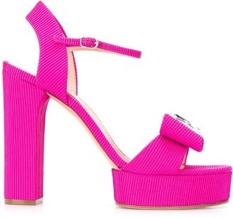Casadei Cannete Manu diamante 130mm sandals