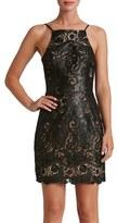 Dress the Population Women's Julie Sequin Lace Sheath Dress