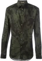 Roberto Cavalli leo camoulage print shirt