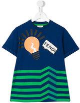 Fendi print T-shirt - kids - Cotton/Spandex/Elastane - 2 yrs