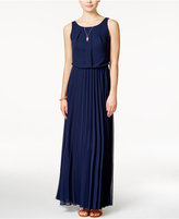 B. Darlin Juniors' Sleeveless Pleated Maxi Dress