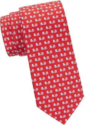 Salvatore Ferragamo Crab-Print Silk Tie