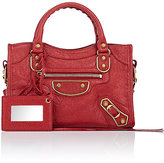 Balenciaga Women's Arena Metallic Edge Mini City Bag-RED