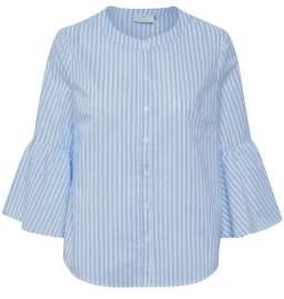 Kaffe Blue Stripe Shirt - 8 - Blue