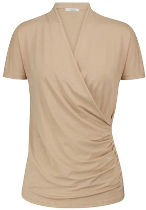 Max Mara Ottone jersey wrap top