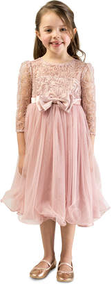 Bonnie Jean Toddler Girls Lace Bow Dress