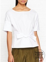 DKNY Tie Front Short Sleeve Shirt