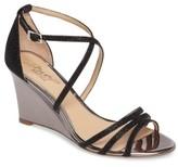Badgley Mischka Women's Hunt Glittery Wedge Sandal