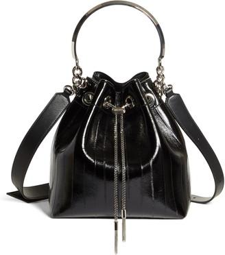Jimmy Choo Bon Bon Genuine Eel & Leather Bucket Bag